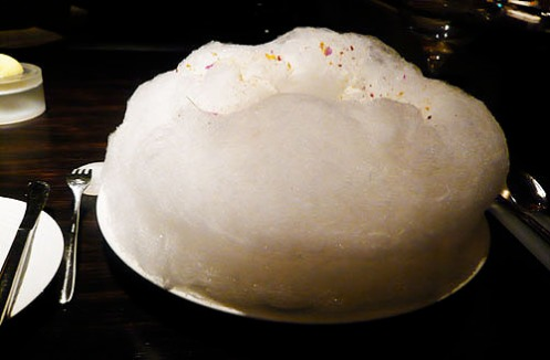foie gras and cotton candy
