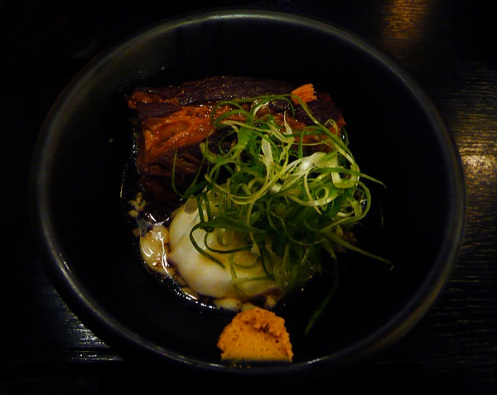 pork and slow cooked egg