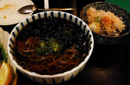 soba and agedashi tofu