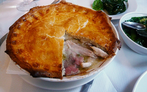 chicken and tongue pie
